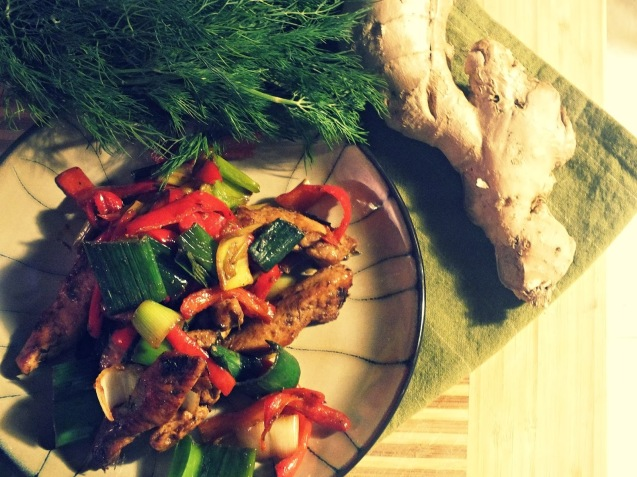 ginger chicken stir-fry | thecreolewoman.com