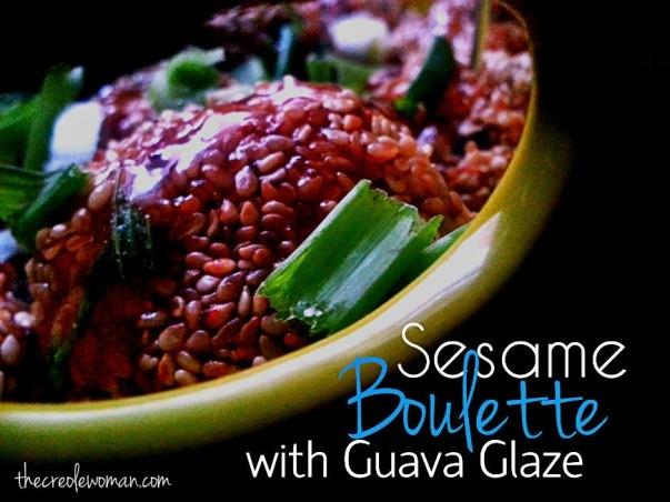 Sesame Boulette with Guava glaze